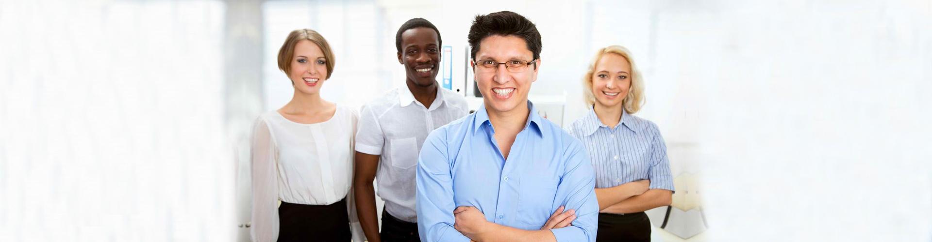 IT professionals smiling